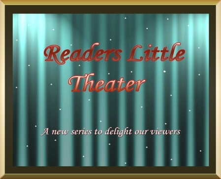 gold frame template reader theater copy